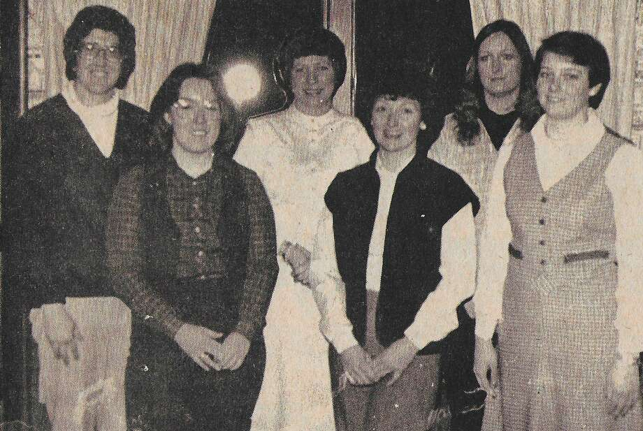 More than 25 years of community service by Manistee Jaycettes was highlighted in early February 1981 when the local club celebrated national Jaycette Week with a recognition and awards night this past week. Shown here are (front row from left), Jeanne Strevey, Judi Riemersma and Julie Foltz. (Back row from left) are Anne Gregg, Sue Mark and Kristie Woods. The photo was published on this date in News Advocate in 1981. (Manistee County Historical Museum photo)