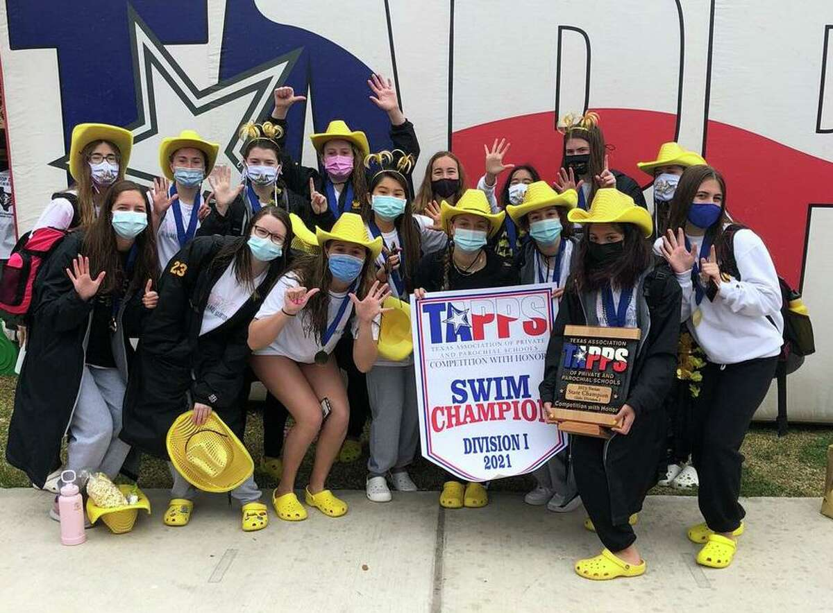 The St. Agnes Academy swimming team captured its sixth consecutive TAPPS Division I state championship, amassing 403 points as 14 individuals scored.