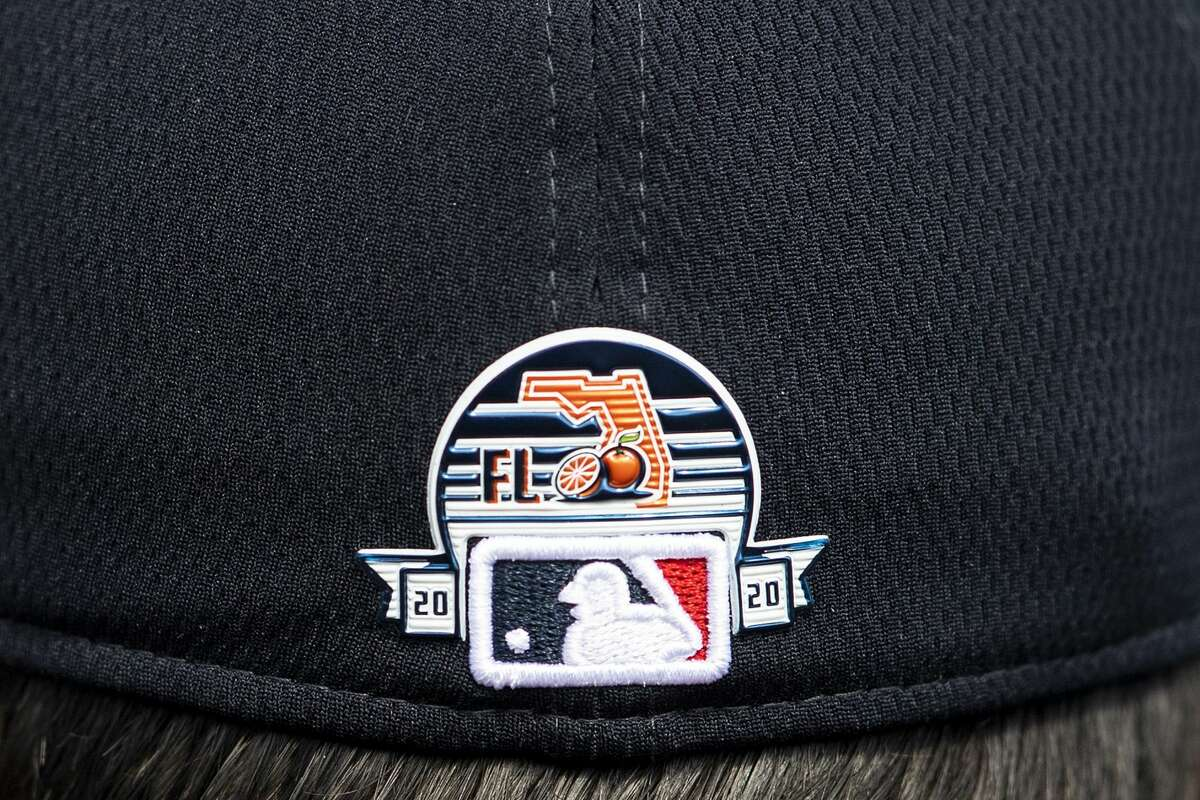 FT. MYERS, FL - FEBRUARY 12: The Grapefruit League logo is displayed on a hate during a Boston Red Sox team workout on February 12, 2020 at JetBlue Park at Fenway South in Fort Myers, Florida. (Photo by Billie Weiss/Boston Red Sox/Getty Images)