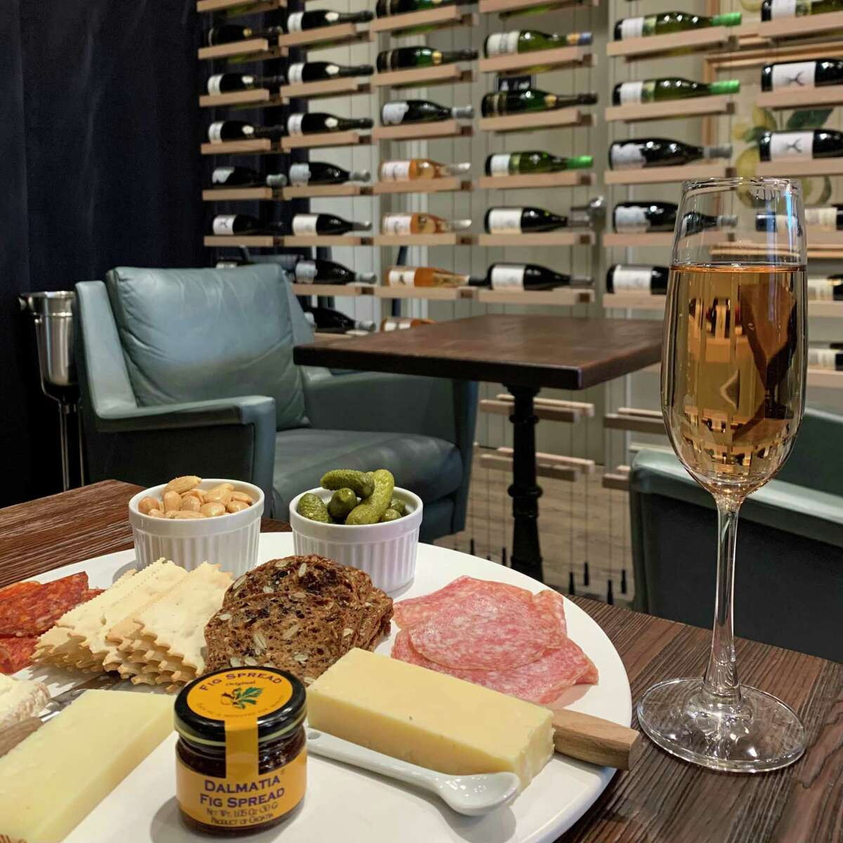 Sip Wine Bar partners with Old Saybrook's Fromage for its cheese and charcuterie offerings.