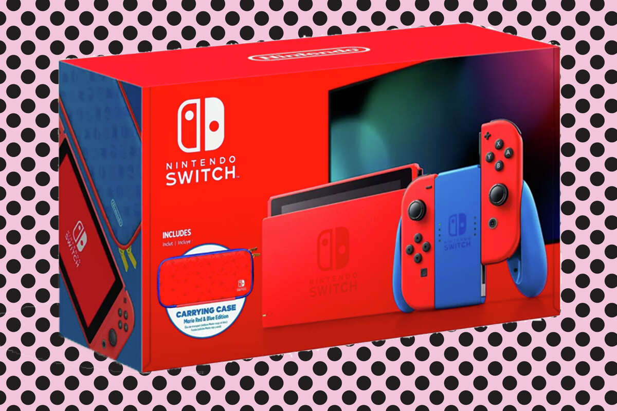 Red & Blue Mario Edition Nintendo Switch for $299.99 at Target