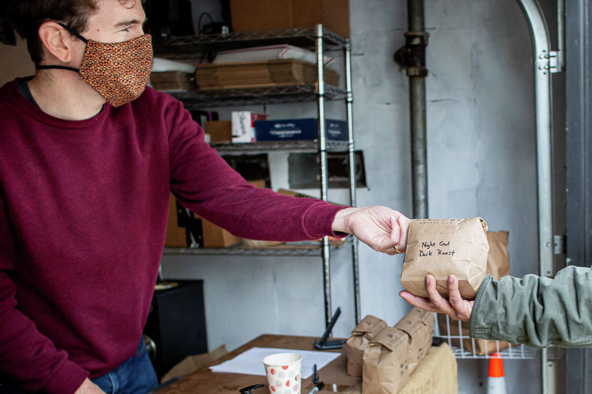 Dan and Ella Streetman operate Bird and Bear Coffee out of their garage at 726 Cole Street.