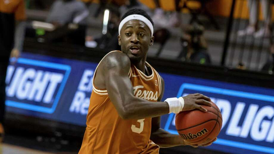 Junior guard Courtney Ramey has grown into a critical voice on and off the court for No. 13 Texas. Photo: Mitch Alcala, FRE / Associated Press / Copyright 2021 The Associated Press. All rights reserved