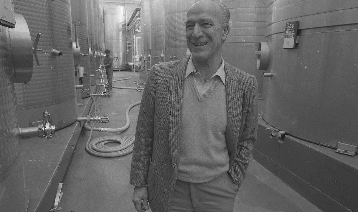 Robert Mondavi in January 1986.