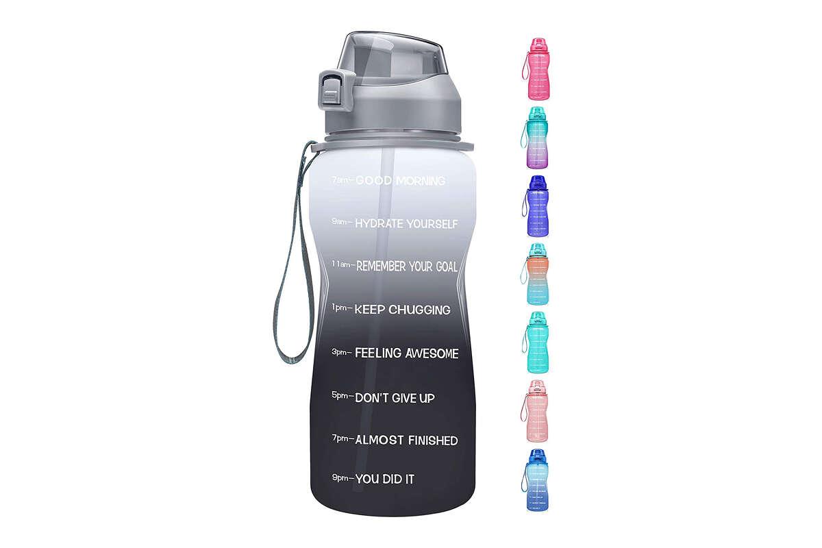 Fidus Large Half Gallon/64oz Motivational Water Bottle for $21.99 at Amazon