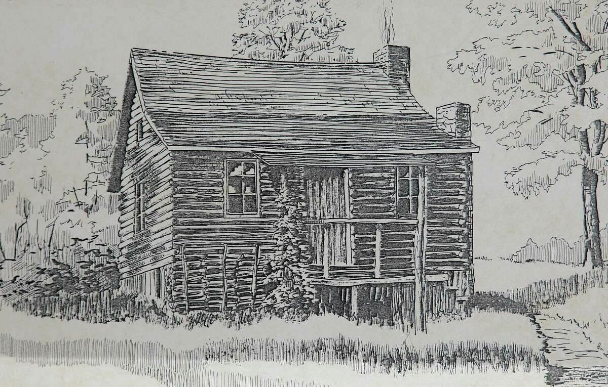 A drawing made of the home of former slave Nero Hawley on display at the Trumbull Historical Society in Trumbull on Friday. Hawley was born into slavery, enlisted in Washington's army, and became a businessman and landowner in Trumbull after the war. Local teachers and THS board members Jennifer Winschel and Meredith Ramsey used the book in their primary research for class assignments during Black History Month.