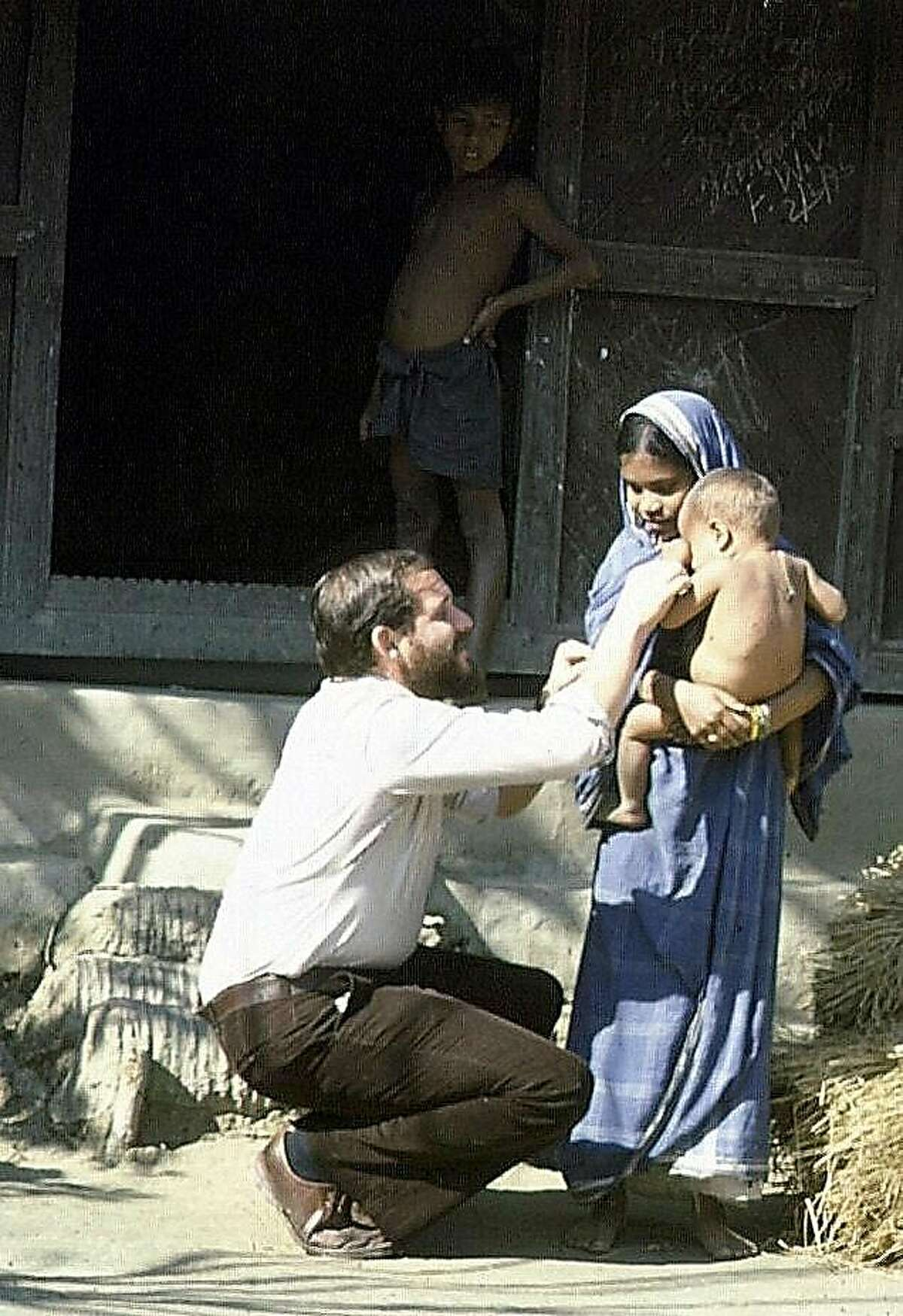 Larry Brilliant in India the 1970s working with the World Health Organization's efforts to eradicate Smallpox.� 'courtesy of Seva Foundation'.