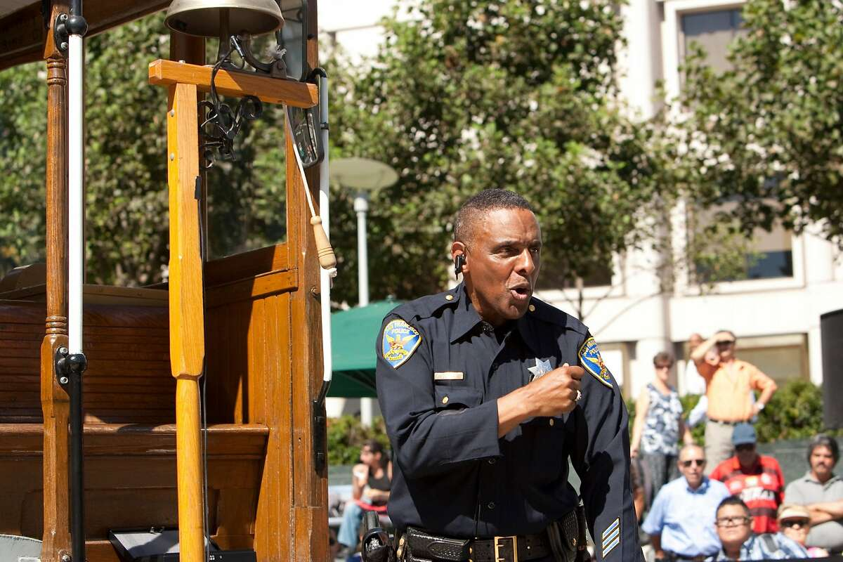 Officer Carl Payne, a bell ringing champion, gives a demonstration in Union Square in 2010.