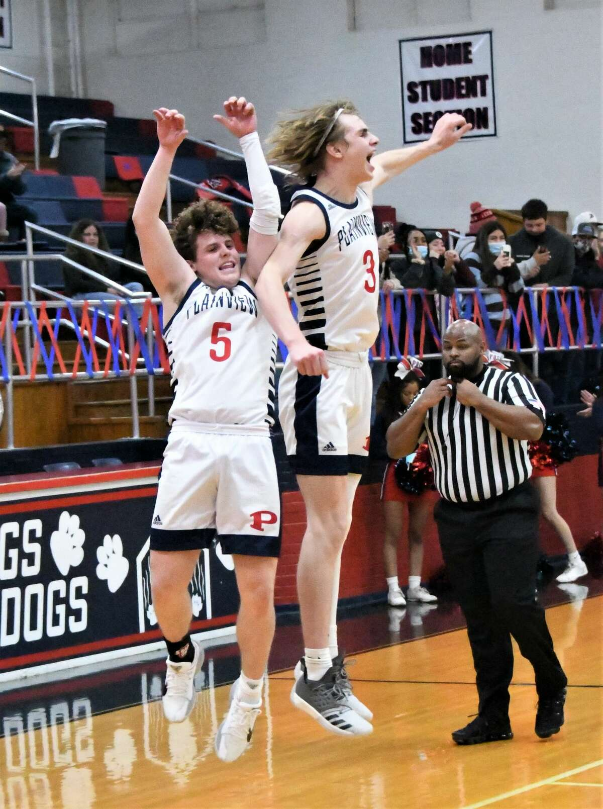 The Plainview boys basketball team secured its first playoff appearance since 2017 with an 80-64 win over Amarillo Palo Duro on Friday night in the Dog House.