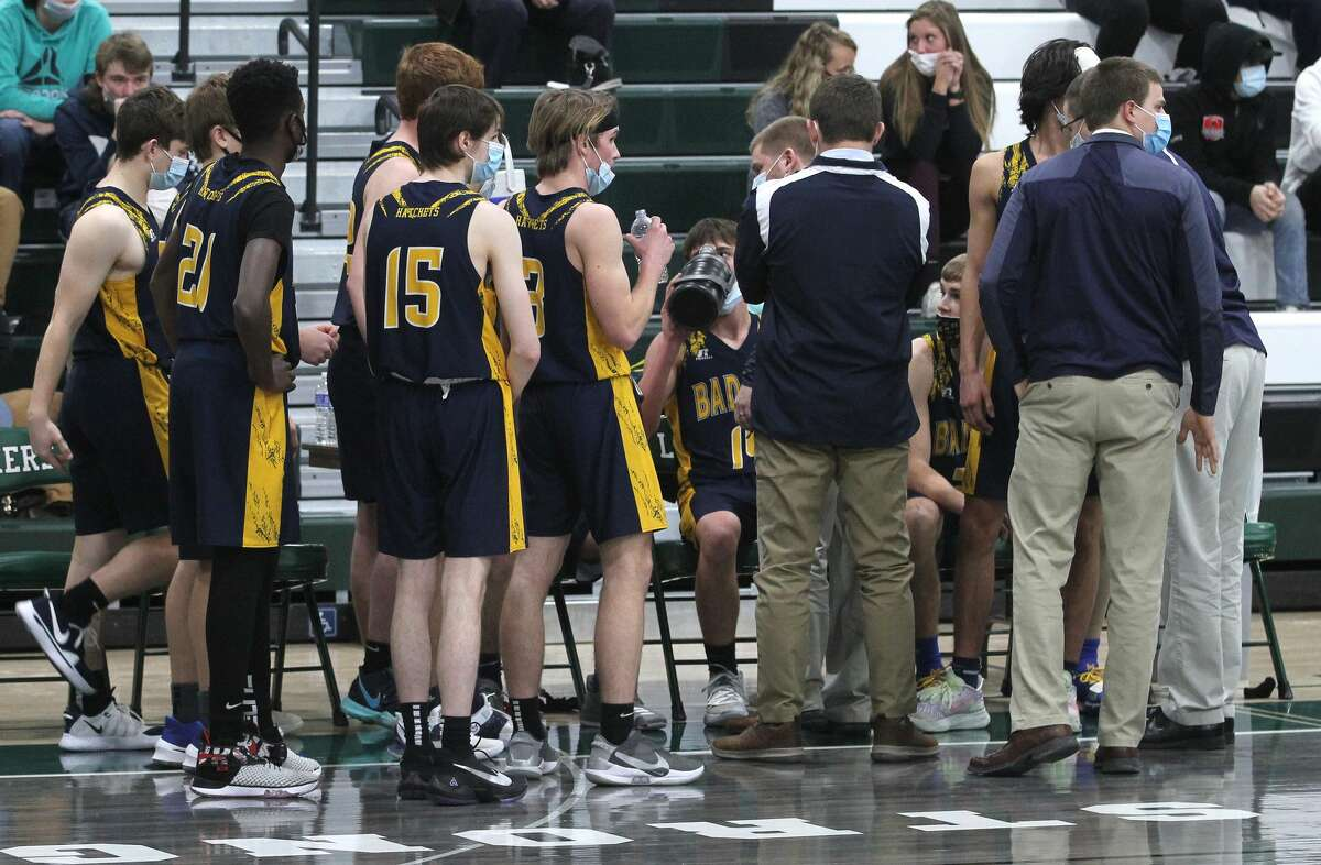 The Bad Axe boys basketball team traveled to Cass City on Tuesday night and notched its fourth win in five tries, beating the Red Hawks, 47-35.