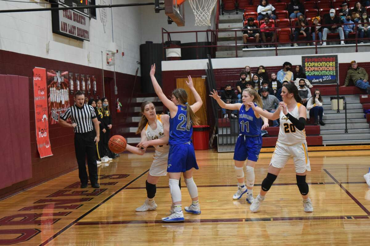 The Kress Lady Roos faced the Wildorado Lady Mustangs on Feb. 12 in a bi-district Class 1A game.