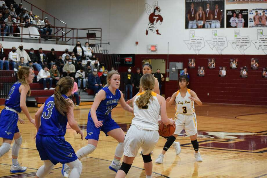 The Kress Lady Roos faced the Wildorado Lady Mustangs on Feb. 12 in a bi-district Class 1A game. Photo: Ellysa Harris/Plainview Herald