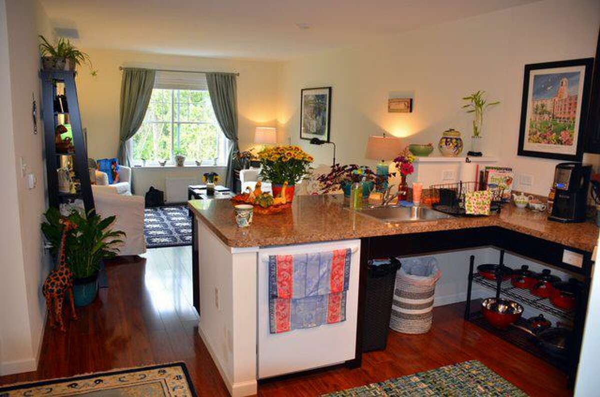 An example of an accessible kitchen built with wheelchair users in mind at Ojakian Commons in Simsbury, Conn.
