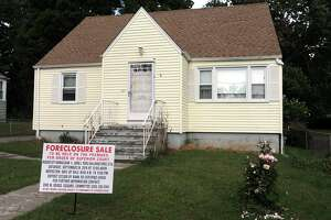 File photo of a house sold at a foreclosure sale in Bridgeport in 2016.