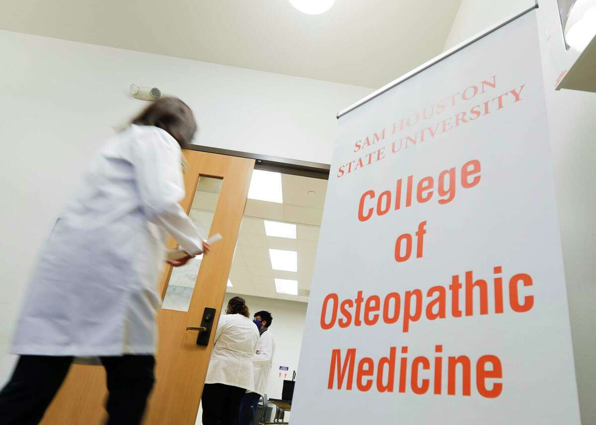 Students with Sam Houston State University's College of Osteopathic Medicine administered healthcare to community members at the Conroe Salvation Army, Saturday, Feb. 13, 2021, in Conroe.