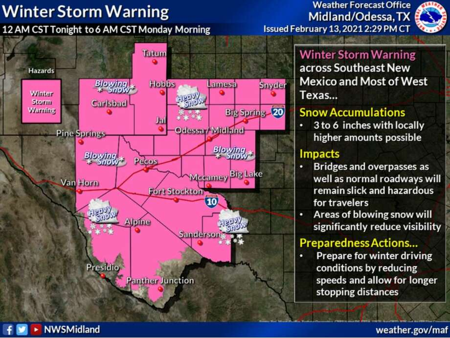A Winter Storm Warning has been issued for most of the region late tonight through early Monday. Significant snow accumulations with blowing snow is expected. Roads will become slick and hazardous. Photo: National Weather Service