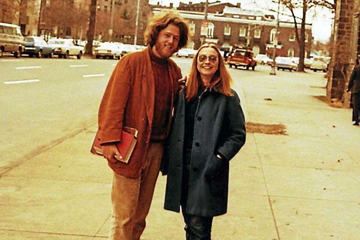 Q: Former president Bill Clinton and his law-school classmate, Hillary Rodham, went where on their first date? A: The two went to a Mark Rothko exhibit at the Yale University Art Gallery. The Yale Law School students were photographed in New Haven circa 1971. Courtesy www.hillaryclinton.com