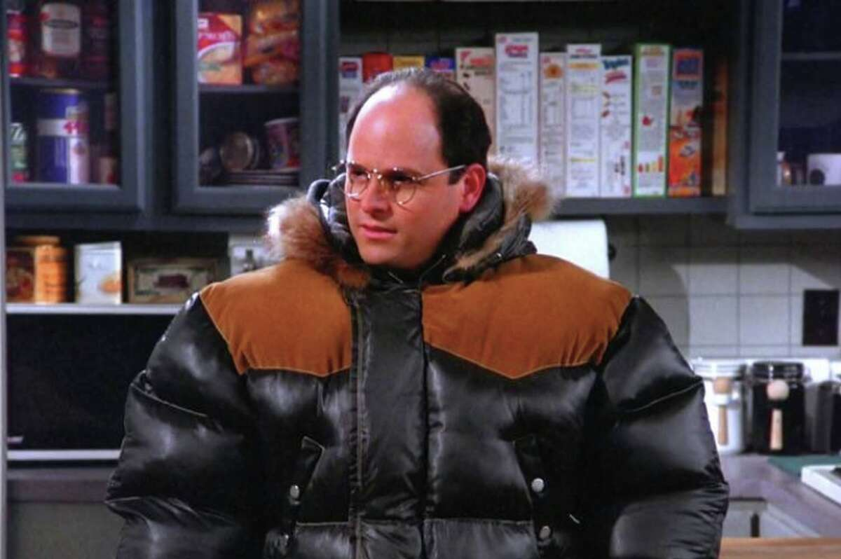 George Costanza is prepared for the cold.