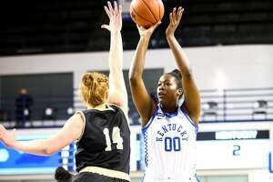 Olivia Owens scored 10 points in a Kentucky Wildcat win over Wofford. Photo by Eddie Justice | UK Athletics