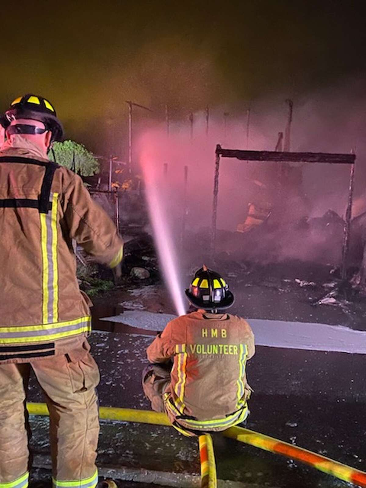 A fire destroyed the Andreotti Family Farm barn in Half Moon Bay on Feb. 12, 2021.