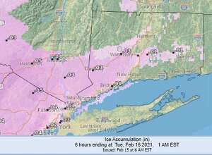 A winter weather advisory calling for a mix of freezing rain and sleet is in effect in southern Connecticut until 7 a.m. Tuesday, according to the National Weather Service.