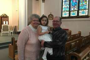 Donald and Charlotte Bredow of Bad Axe have been married 42 years. They are pictured with their granddaughter Ciara.