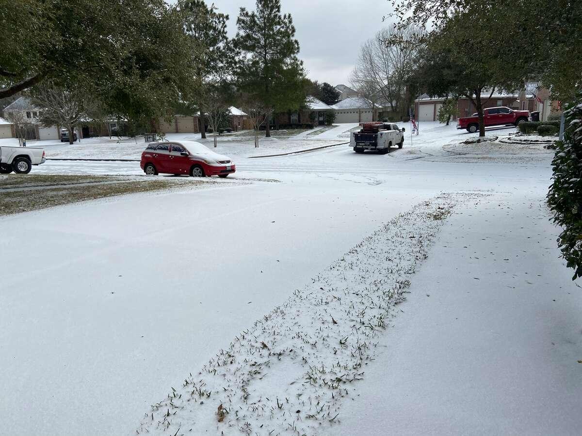 Snow in Houston Feb. 15, 2021.