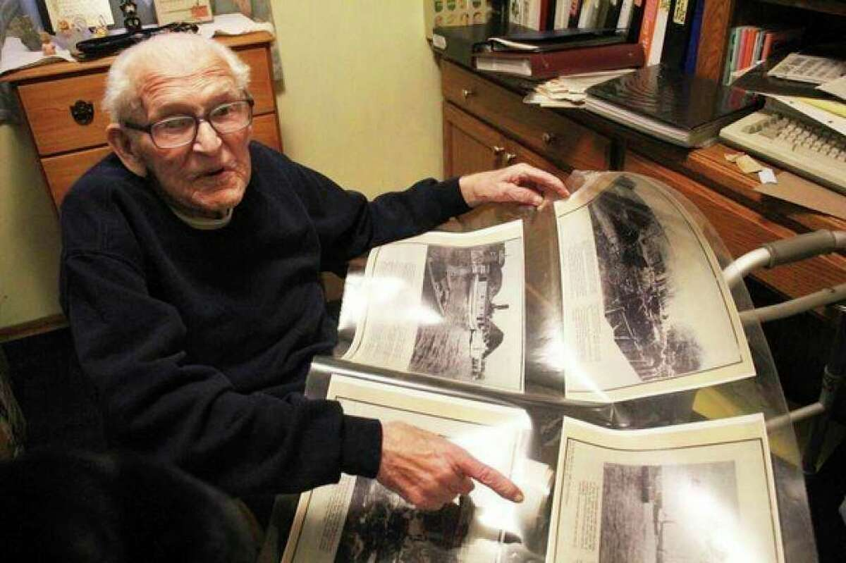 Until his passing last year, Leonard DeFrain's collection of local history remained in his home. DeFrain enjoyed spreading the wealth of the history he had collected. (Tribune File Photo)