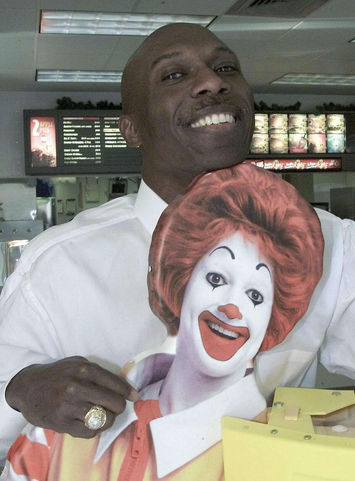 WASHINGTON1-03JAN02-SP-AP-- Herb Washington poses for a portrait in his McDonalds restaraunt in Niles, Ohio, Thursday, Jan. 3, 2002. (AP Photo/Ron Schwane)