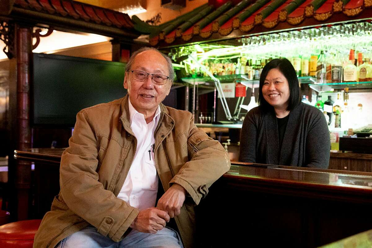 Bill Lee, shown with daughter Kathy Lee, owns the Far East Cafe, one of two remaining banquet halls in Chinatown.