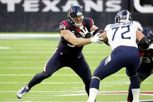 J.J. Watt played all 16 games this season but was limited to five sacks and 14 tackles for loss as the Texans routinely played from behind and teams ran the ball on 47.7% of their plays against Houston.