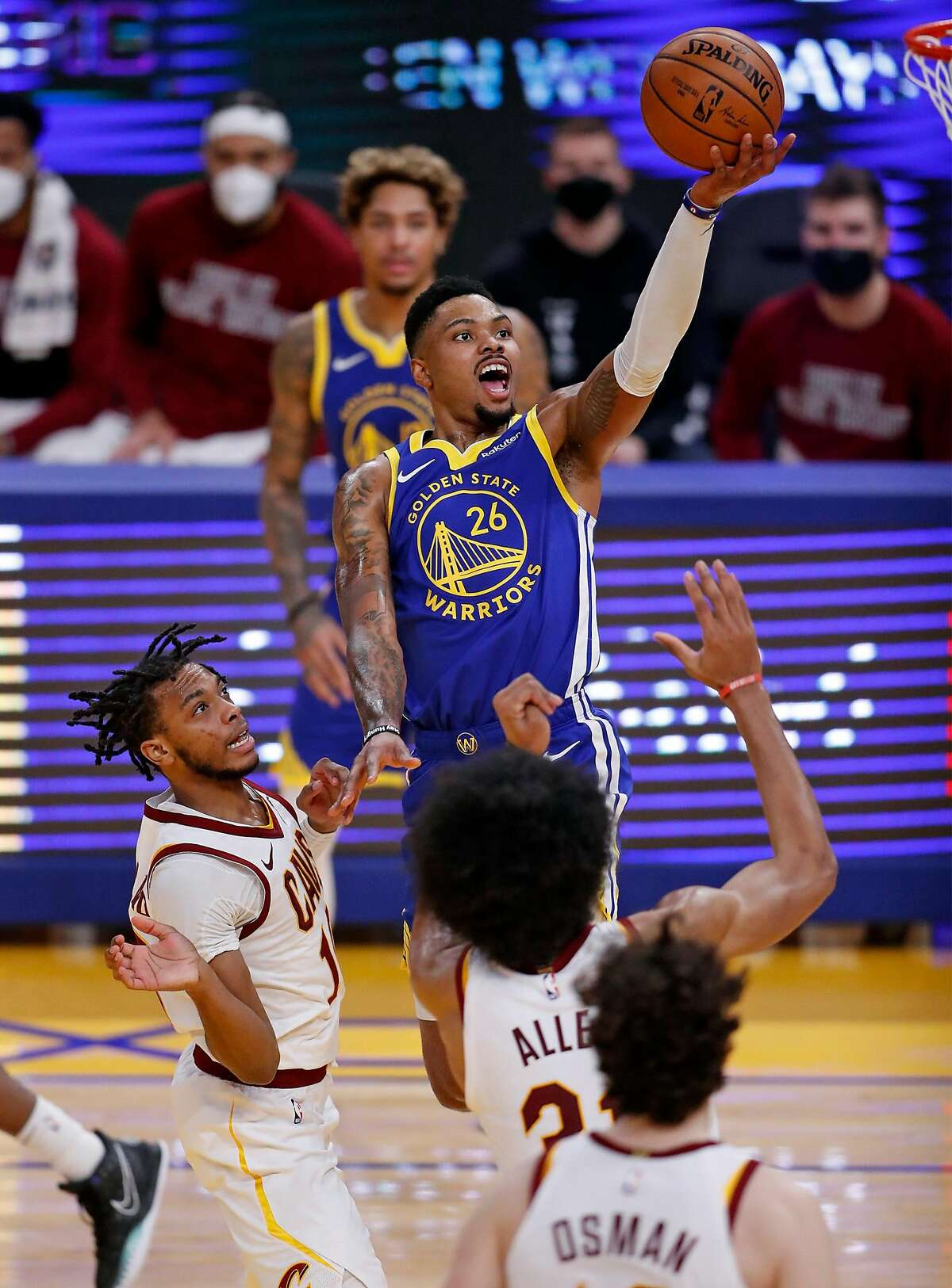 Warriors guard Kent Bazemore will be an unrestricted free agent this summer.