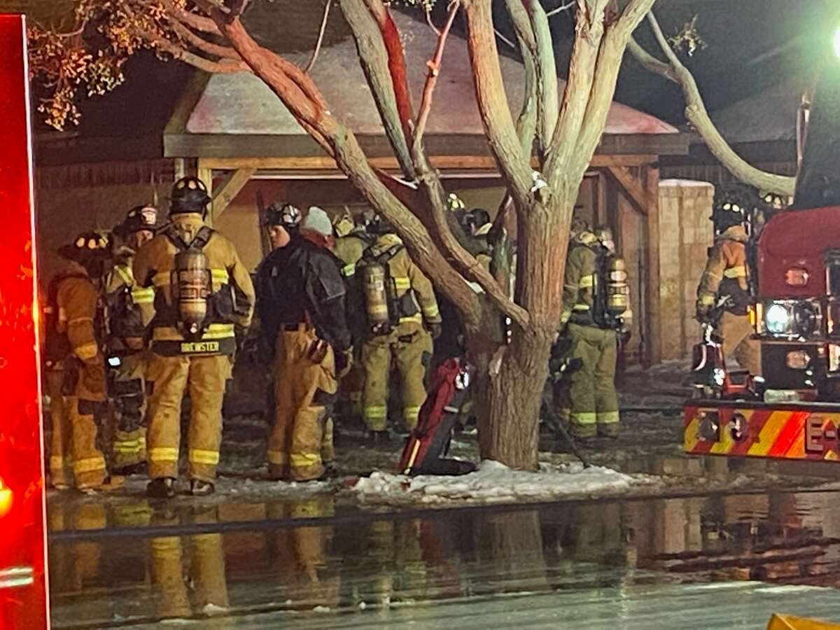 Firefighters were at the scene for a fire late Monday in Green Tree