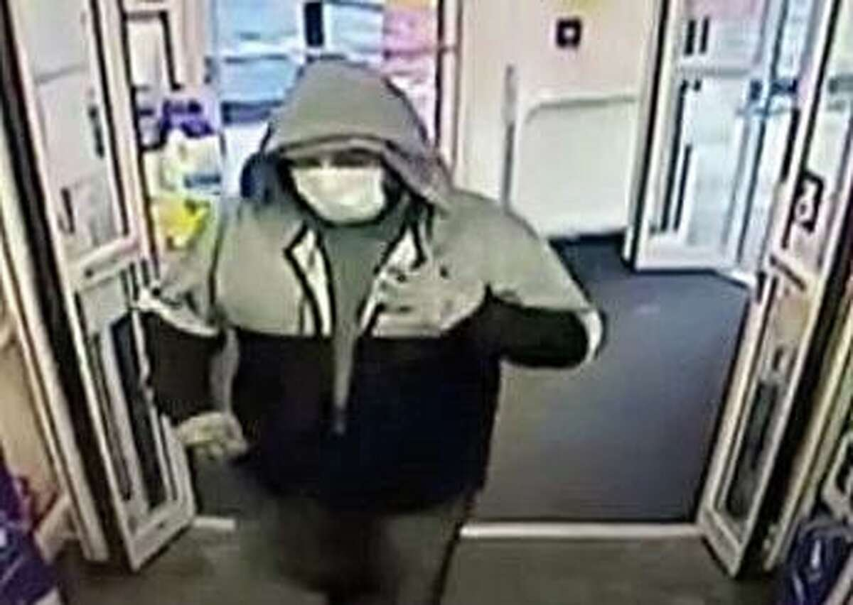 The man that police say robbed the CVS at 90 Main Street in Windsor Locks, Conn., on Jan. 2, 2021.