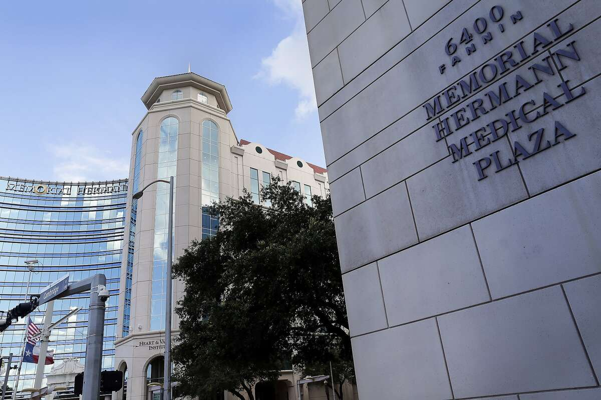 The building facade of one of the Memorial Hermann Medical Plaza locations along Fannin St. in the Texas Medical Center district Thursday, July. 23, 2020 in Houston, TX.