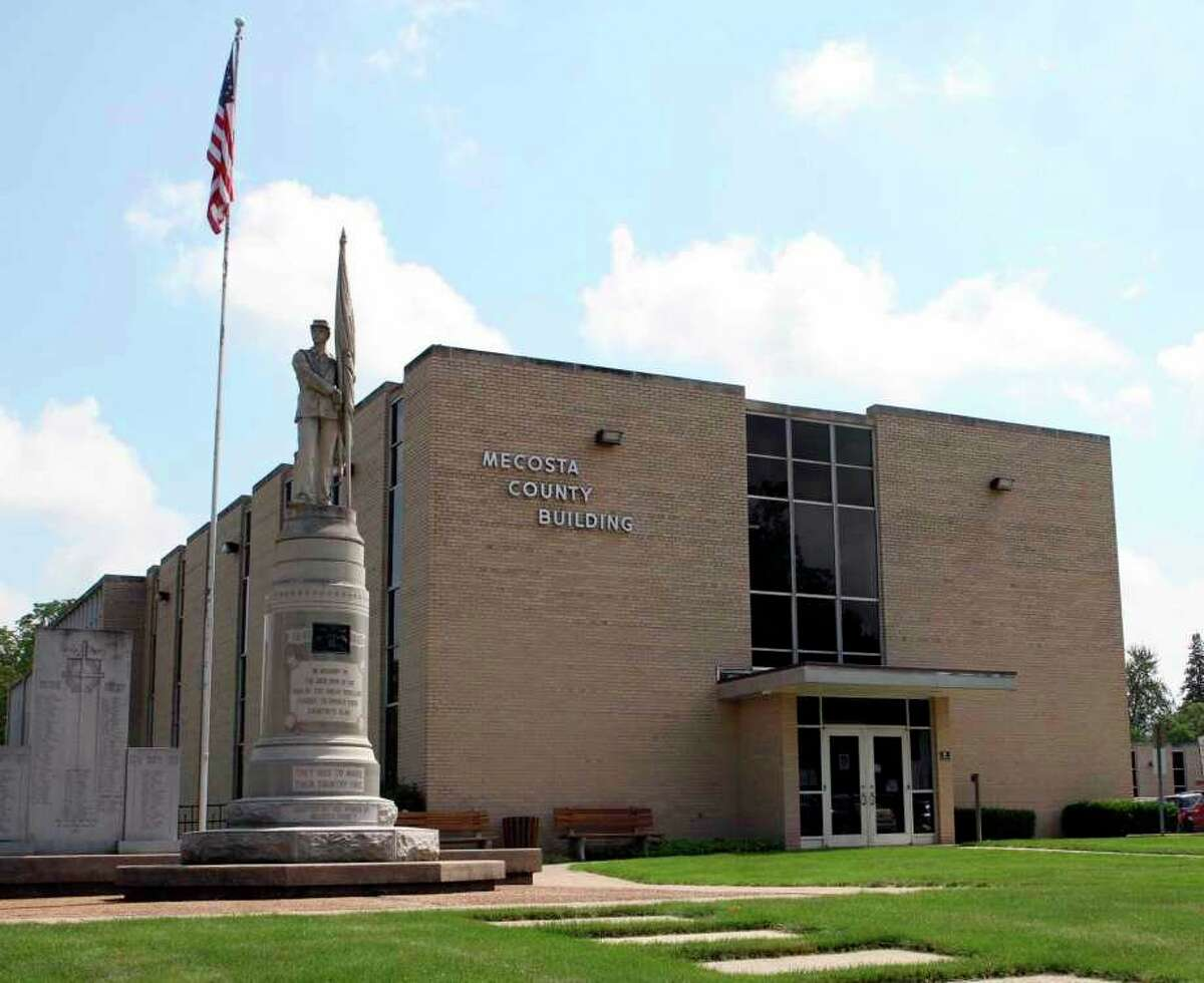 The Mecosta County Courthouse is located at 400 Elm St. in Big Rapids. (Pioneer file photo)