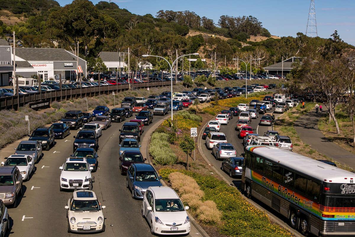 File photo of traffic along Sir Francis Drake Boulevard in 2013.