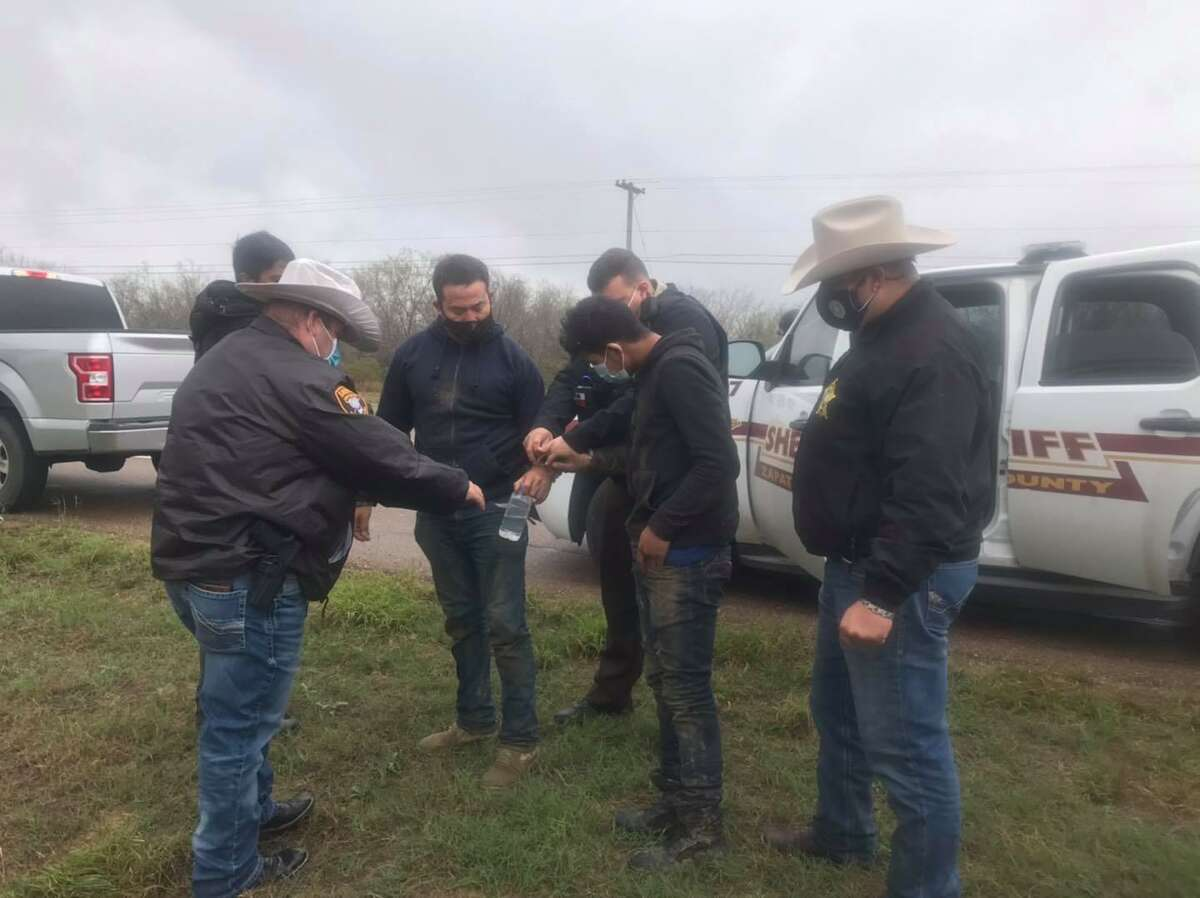 The Zapata County Sheriff's Office said they apprehended four people who were hiding in the brush. The individuals were determined to be immigrants who had crossed the border illegally.