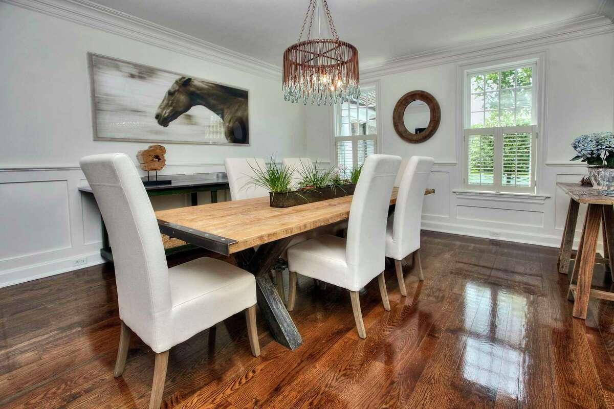 Formal dining room at 5 Mayflower Parkway, Westport.