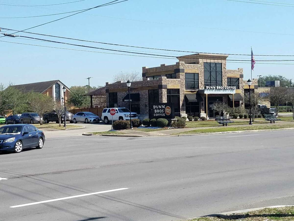 Dunn Bros. Coffee, 201 S. Friendswood Drive in Friendswood was popular with drive-through customers on Tuesday.