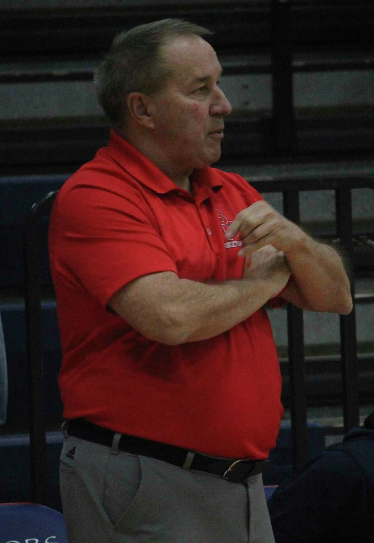 Big Rapids coach Kent Ingles and his team have been keeping busy with three games a week. (Pioneer photo/John Raffel)