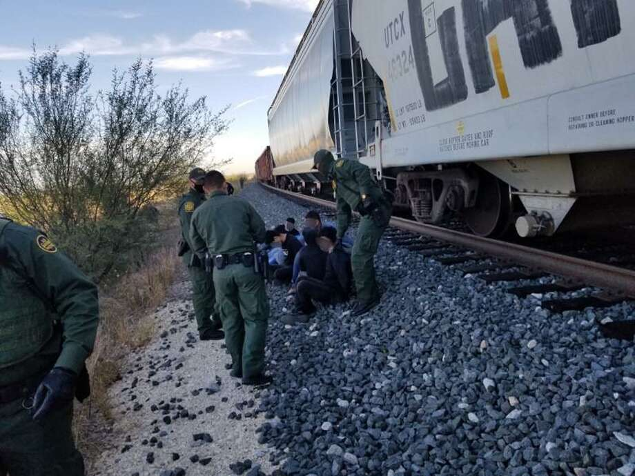 U.S. Border Patrol agents detained 14 immigrants who tried to further themselves into the country via a train near Cotulla. Photo: Courtesy Photo /U.S. Border Patrol