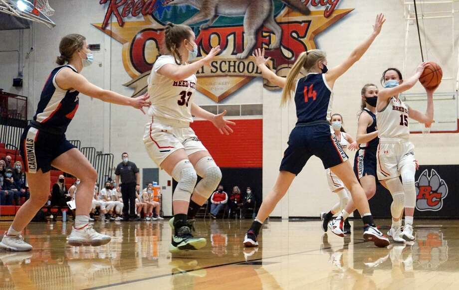On Tuesday night, the Big Rapids girls' basketball team defeated Reed City 50-21 at Reed City High School. Photo: Pioneer Photos/Joe Judd