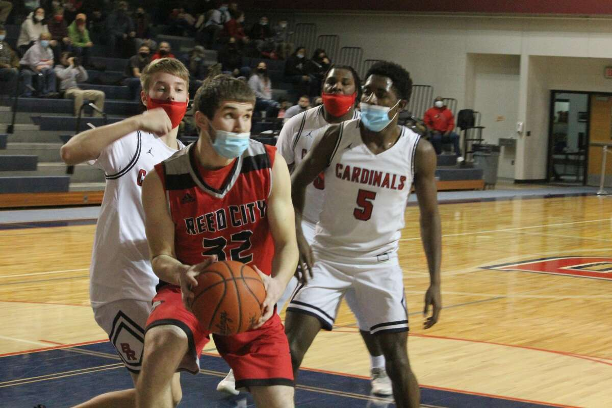 Reed City edged Big Rapids 40-39 on Tuesday to give the Cardinals their first loss of the season.
