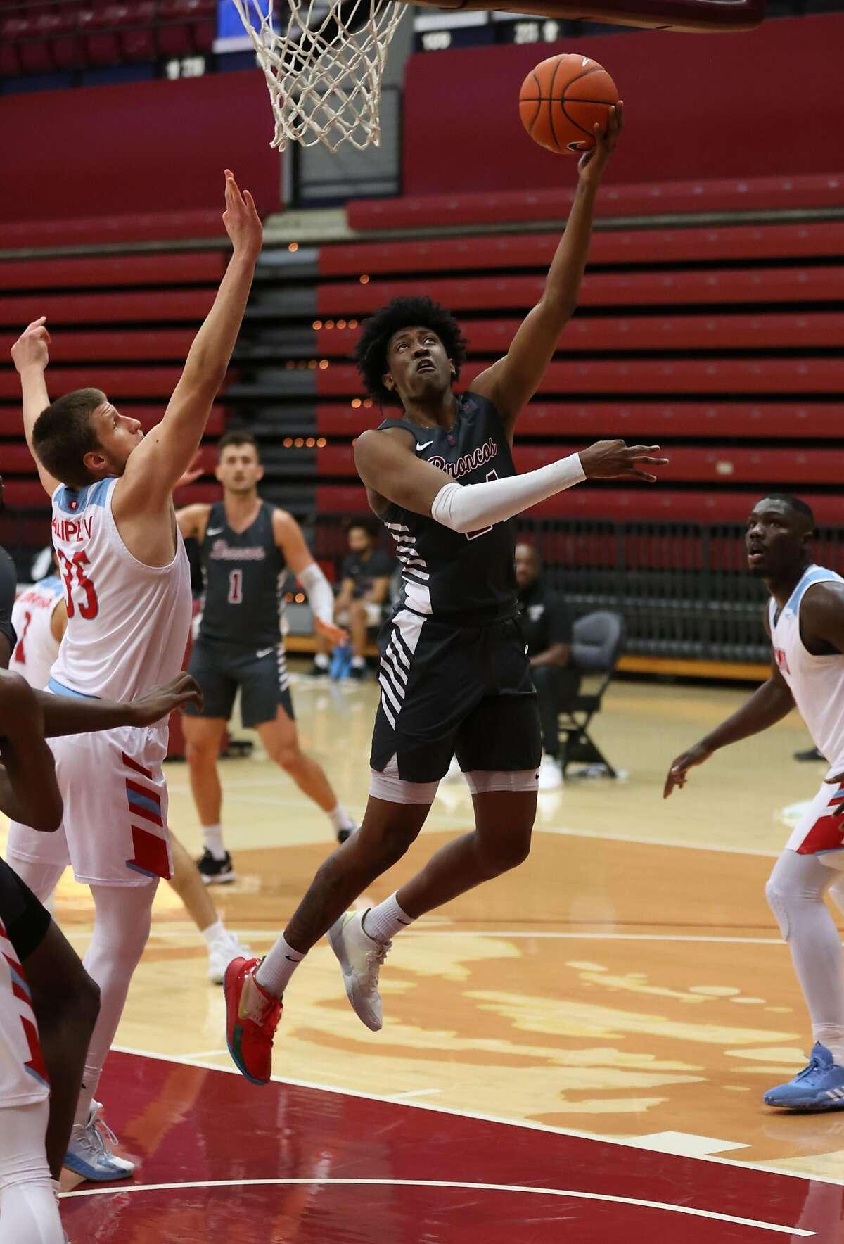 Santa Clara's Jalen Williams scored 18 points against Loyola Marymount.