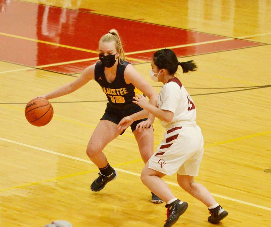 The Manistee girls basketball team captured its first win of the season Tuesday by cruising past Orchard View. The Manistee girls basketball team captured its first win of the season Tuesday by cruising past Orchard View. Photo: TINA ROBINSON, Courtesy Photo