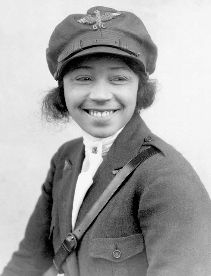 Bessie Coleman was the first black woman aviatrix. On June 15, 1921, she earned her international pilot's license from the French Fédération Aéronautique Internationale. She is pictured circa 1923. (George Rinhart/Corbis via Getty Images) / Corbis Historical