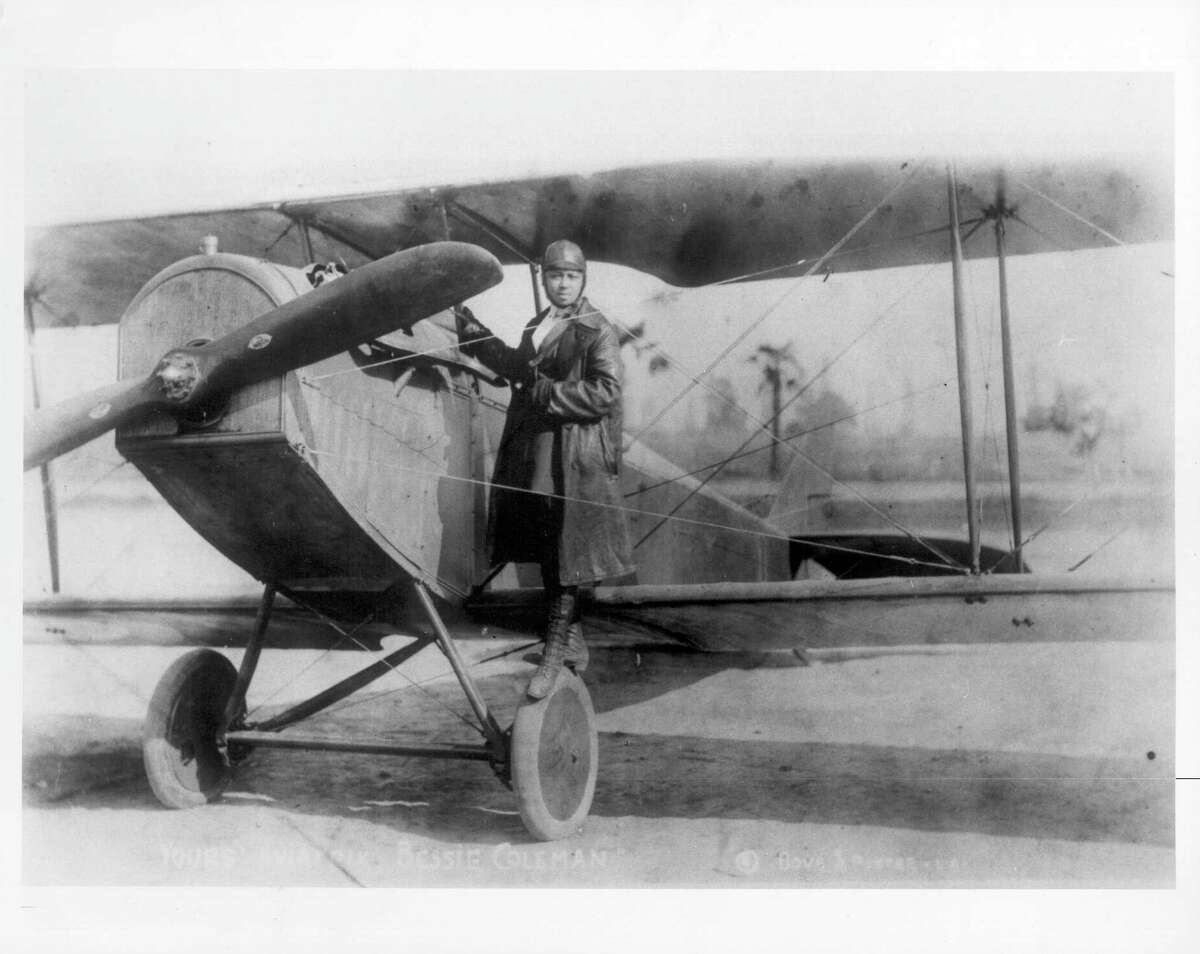 Bessie Colemanwas the first African American and the first Native American pilot. She is pictured circa 1920.(Michael Ochs Archives/Getty Images)