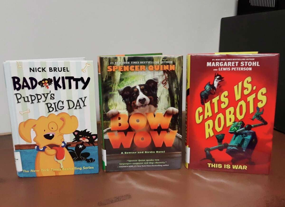 """""""Cats vs. Robots"""" by Margaret Stohl is a science fiction series about a feud between cats and robots that comes to Earth and affects the lives of twins Min and Max.(Courtesy photo/Manistee County Library)"""