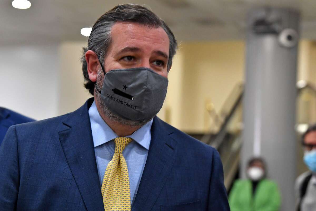 Sen Ted Cruz, R-Tx., in Washington, D.C. on February 12, 2021. Cruz invited a torrent of scorn on social media in recent days after Twitter users resurfaced a tweet he wrote last year mocking California's electricity woes.